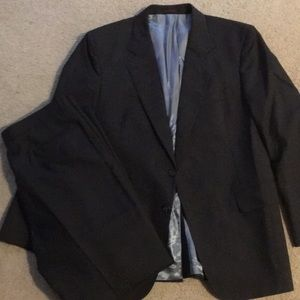 Other - Like New Men's 40R Grey Worsted Wool Suit